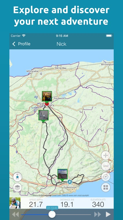 Map My Tracks: ride hike pro screenshot-4