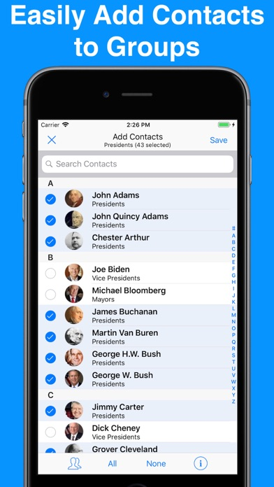A2Z Contacts - Group Text App screenshot four
