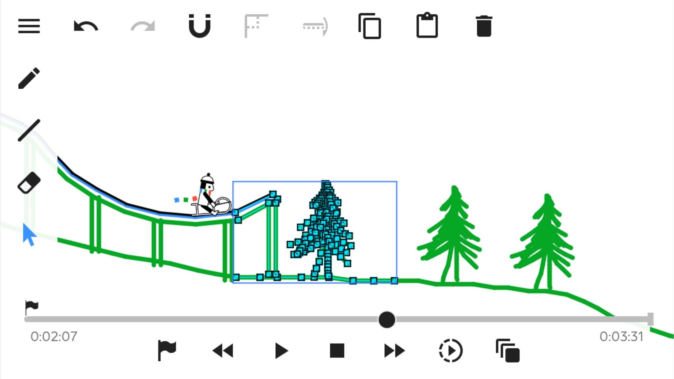 Screenshot do app Line Rider