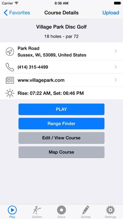 Disc Golf GPS Course Directory screenshot-4