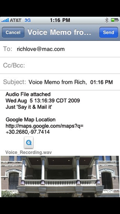 Say it Mail it Recorder screenshot-4