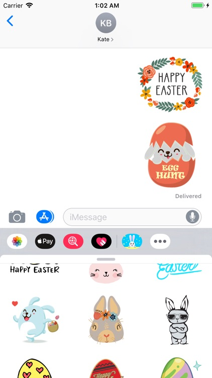 Happy Easter Stickers Pack Emo