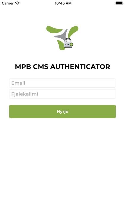 MPB CMS Authenticator