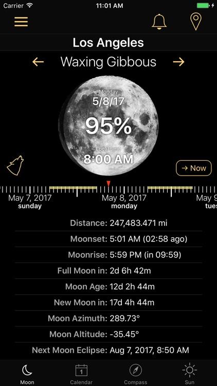 Moon Phases and Lunar Calendar screenshot-4