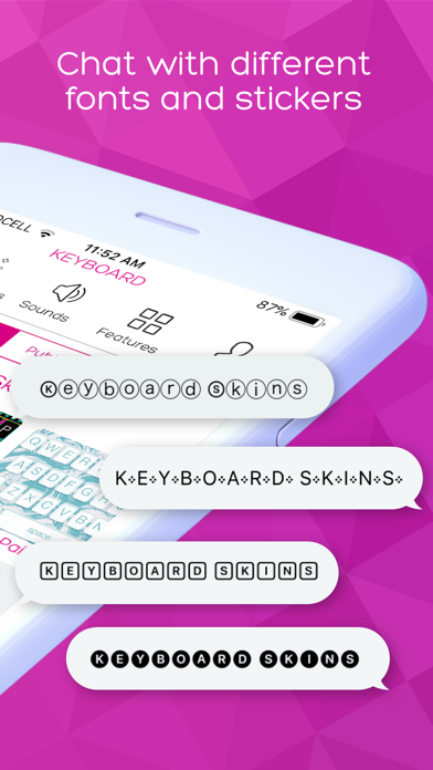 Screenshot for Keyboard Skins for iPhone in Jordan App Store