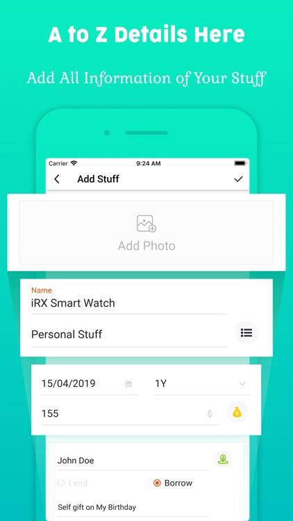 My Stuff Personal Organizer screenshot-6