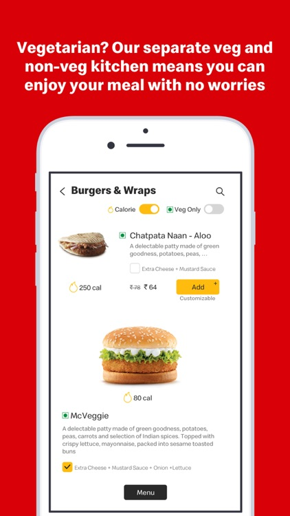 McDelivery India  west & south screenshot-4