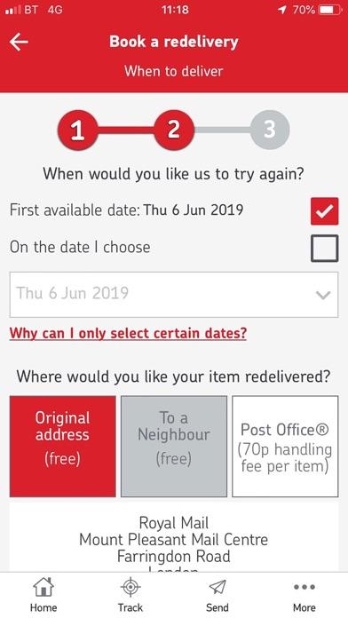Royal Mail screenshot three