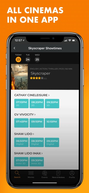 Popcorn: Movie showtimes on the App Store