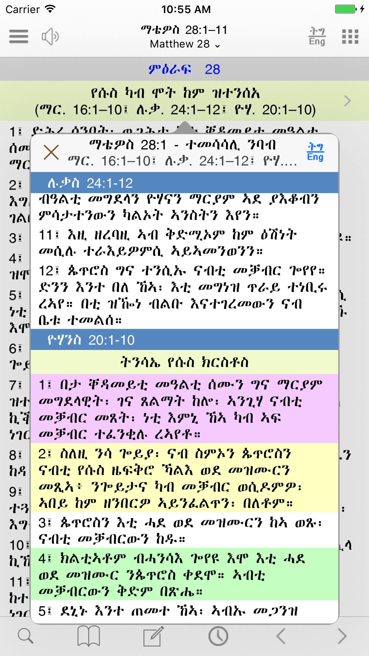Tigrigna Bible and ASV,KJV,WEB Screenshot