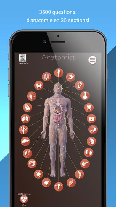 Screenshot #1 pour Anatomist – Anatomie Quiz Jeu