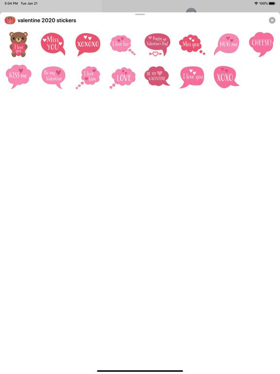 Valentines Day : love stickers screenshot 4