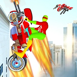 Flying Bike War Robot Shooter