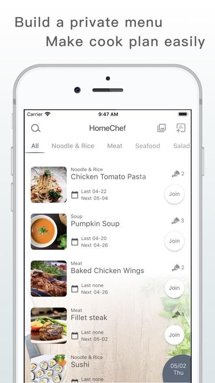 HomeChef - Cooking Schedule