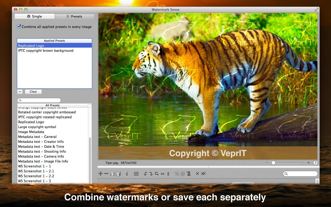 Watermark Sense 1.4.2 Mac 破解版 图像水印工具