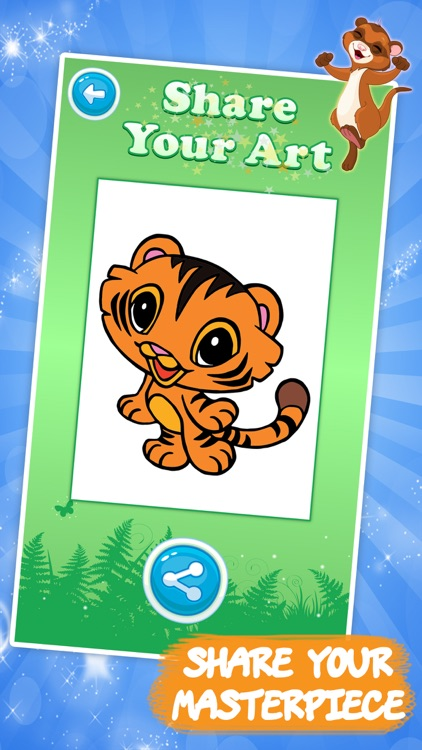 Coloring book: Draw Animals screenshot-3