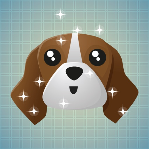 Sticker Me: Brown Dog Faces