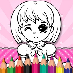 Fashion Doll Color Book
