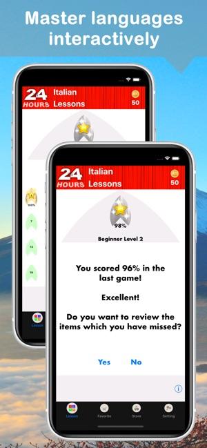 In 24 Hours Learn Italian on the App Store