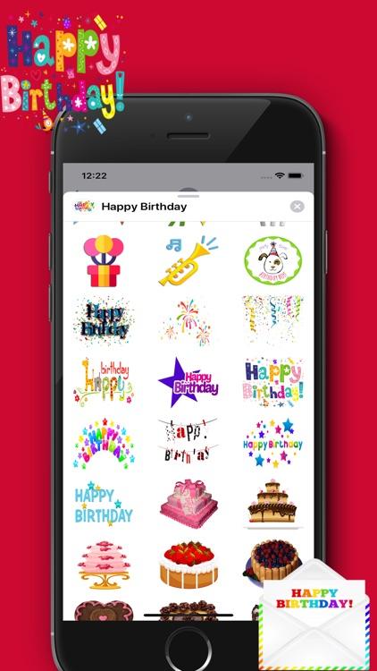 Happy Birthday Sticker - Packs