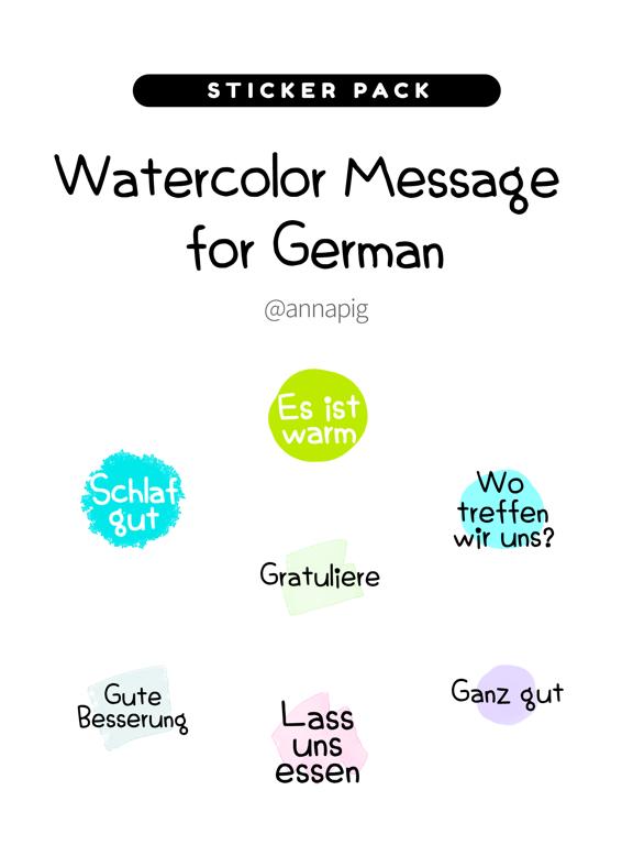 Watercolor Message for German screenshot 4
