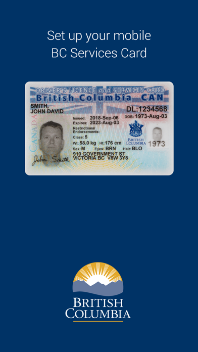 BC Services Card screenshot 1