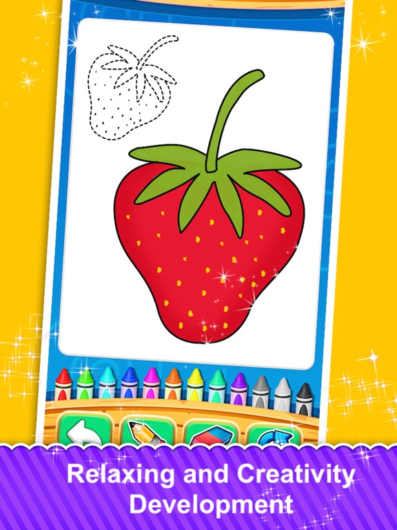 Fruits and Vegetable Coloring screenshot 6