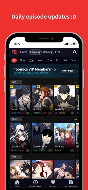 Toomics - Unlimited Comics on the App Store