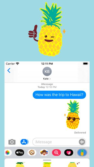 Pineapple Face Emoji Stickers Screenshot