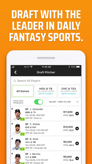 Screenshot for DraftKings Fantasy Sports in United States App Store
