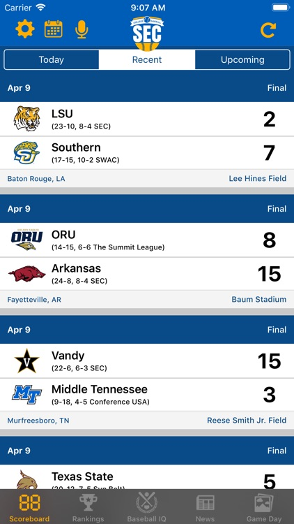 SEC Baseball screenshot-0