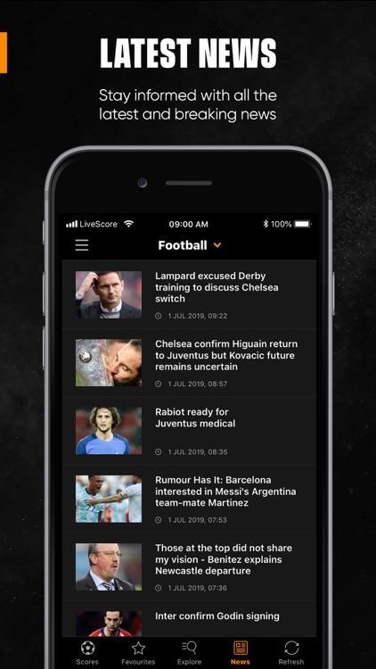 LiveScore: Live Sport Updates screenshot-9