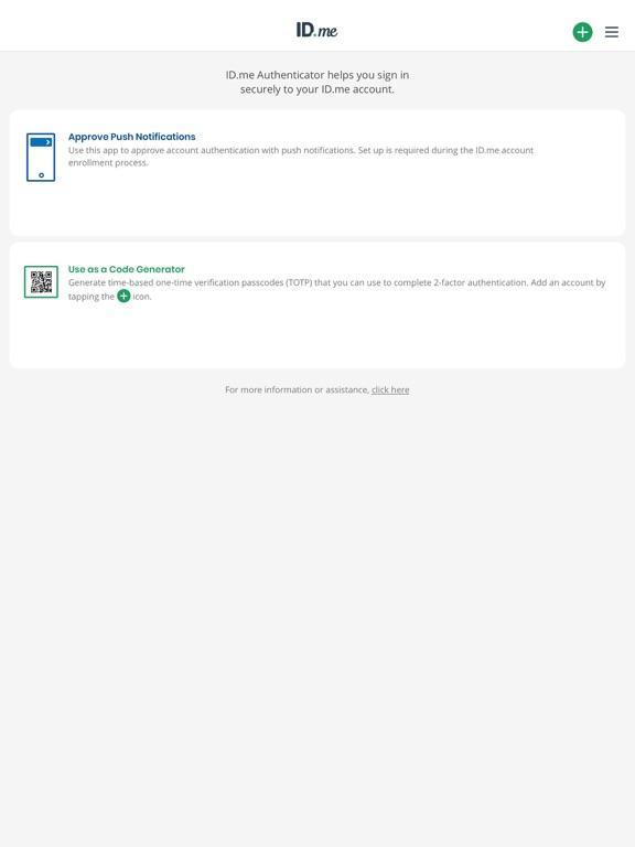 iPad Image of ID.me Authenticator