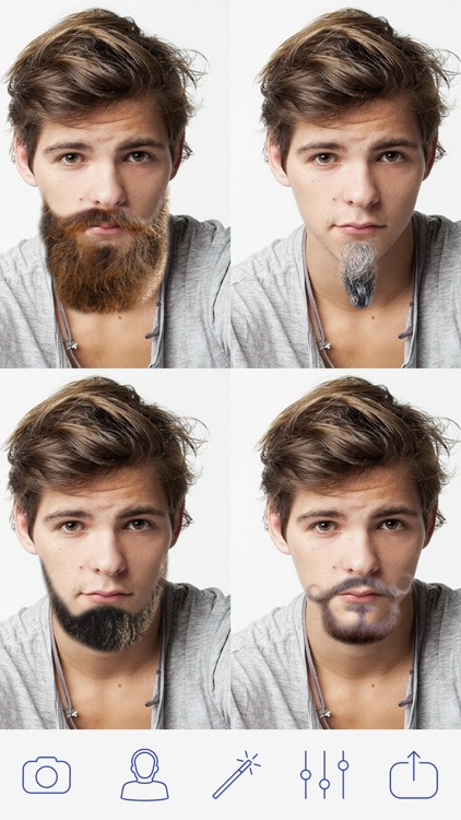 Beard and Mustaches Photo Pro