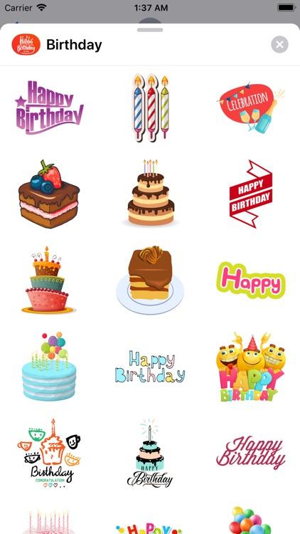 200+ Birthday MEGA Sticker App screenshot-8
