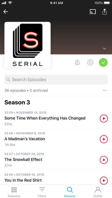 Screenshot for Pocket Casts in Estonia App Store