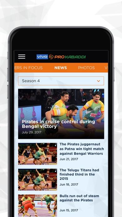 vivo Pro Kabaddi Official App screenshot four