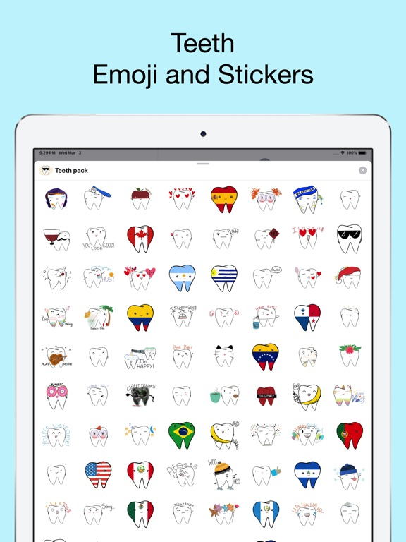 Teeth Emojis & Smiley stickers screenshot 6