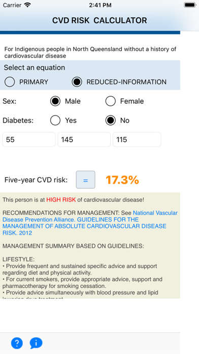 Indigenous CVD Risk Calculator