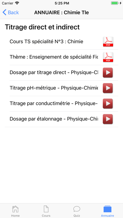 Chimie Terminale screenshot 8