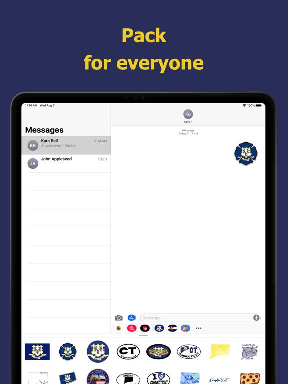 Connecticut emojis - USA moji screenshot 9