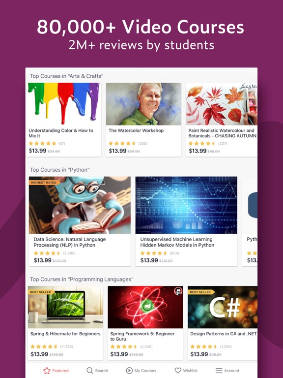 Udemy Online Courses: Programming, Business, Photography, Yoga and more screenshot