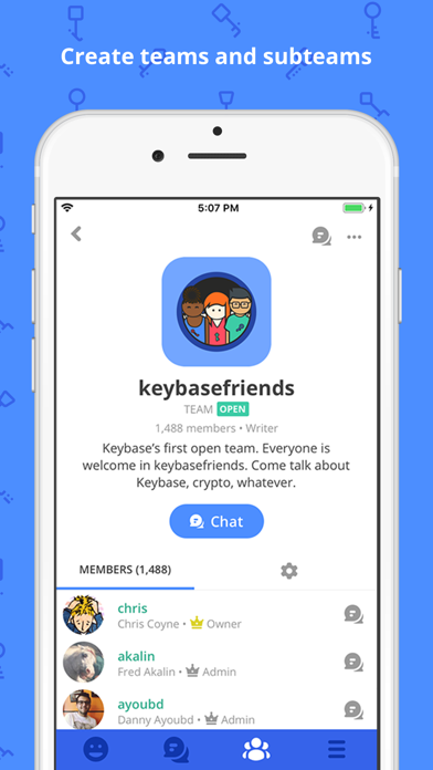 Screenshot #3 pour Keybase - Crypto for Everyone