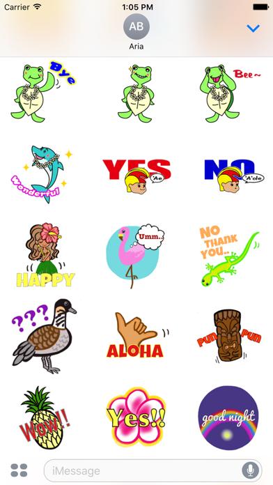 Hawaiian Life Icon Sticker screenshot 4