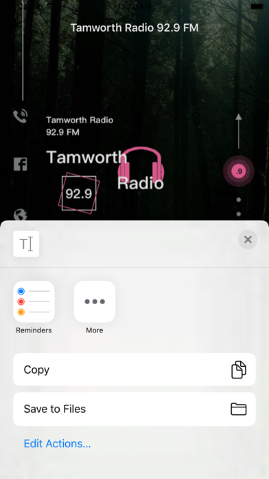 Tamworth Radio 92.9 FM screenshot 4