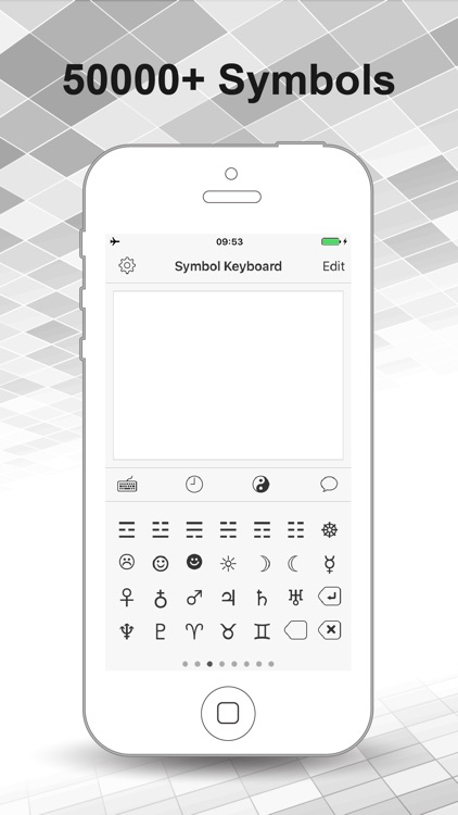 Symbol Keyboard for Texting