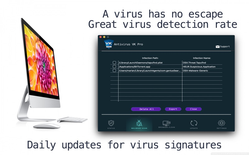 Antivirus VK Pro: Clean Virus скриншот программы 4