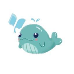 小鲸鱼讲故事