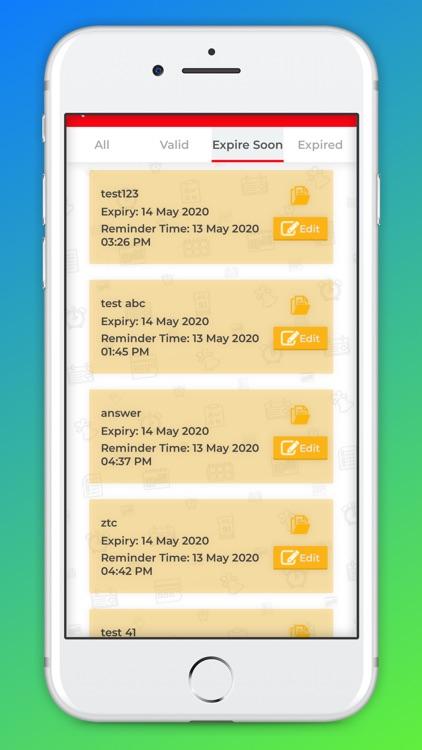ExpReminder screenshot-3