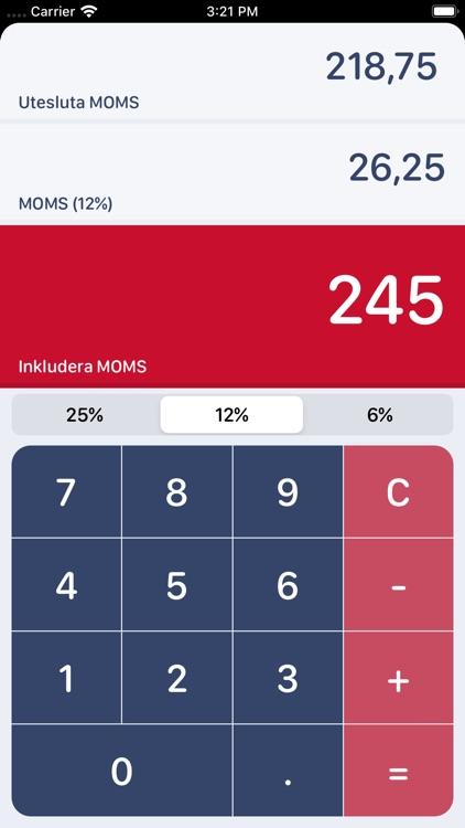Swedish MOMS Calculator screenshot-4